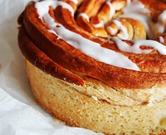Giant Cinnamon Roll Cake, step by step
