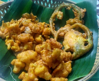 Different Types Bhaji(onion,capsicum,cauliflower)