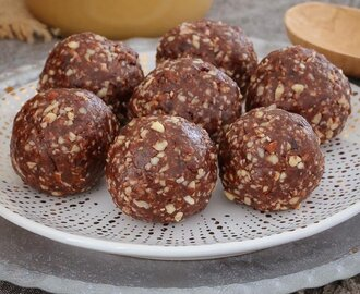 Raw & Guilt-Free Peanut Butter Brownie Bliss Balls