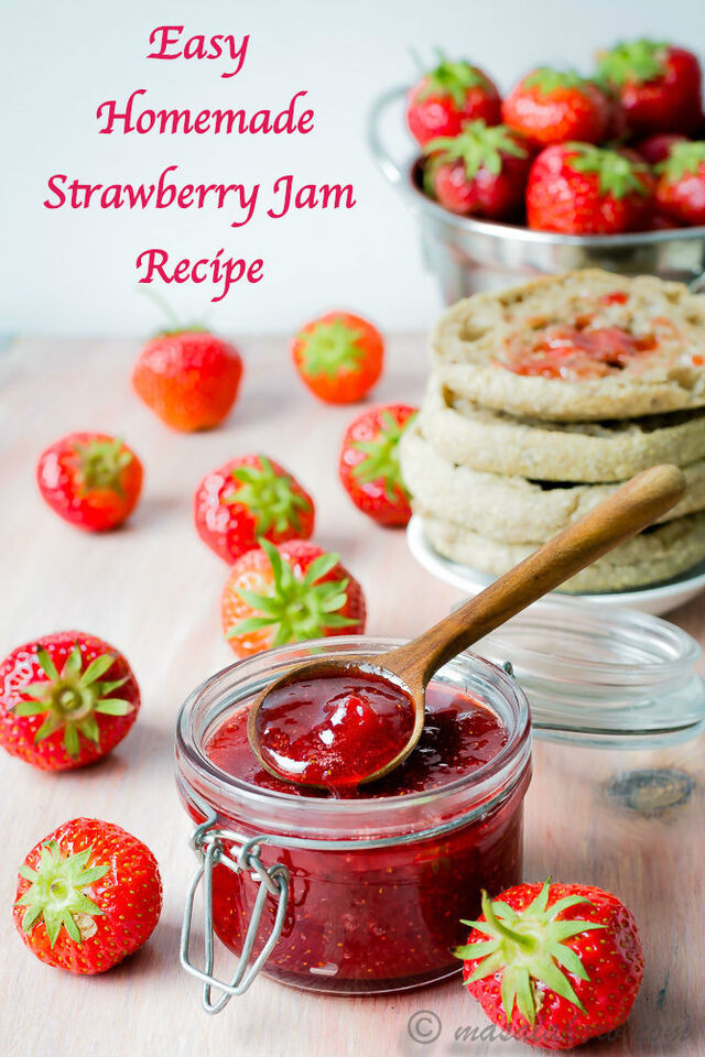 Easy Homemade Strawberry Jam Recipe | Old Fashioned Strawberry Jam Recipe | How to make Strawberry Jam Without pectin | Classic Strawberry Jam
