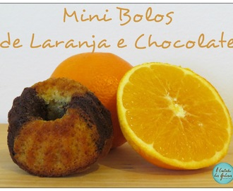 Mini Bolos de Laranja e Chocolate