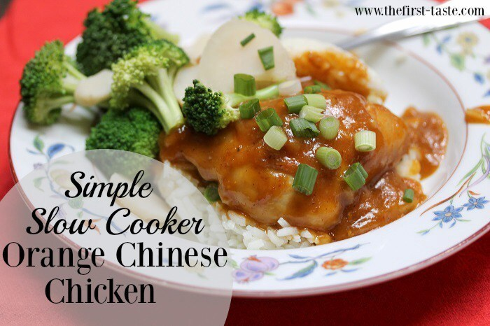 Simple Slow Cooker Orange Chinese Chicken