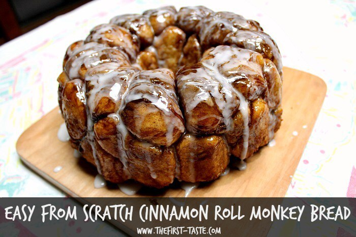 Easy From Scratch Cinnamon Roll Monkey Bread
