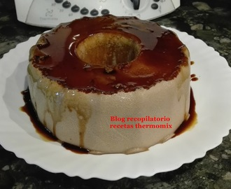 Flan de bizcocho de chocolate thermomix