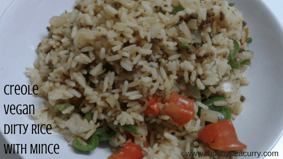 Creole Vegan Dirty Rice made with Quorn Mince or Soya