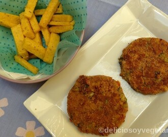 Hamburguesa vegetal de garbanzos y tomates secos
