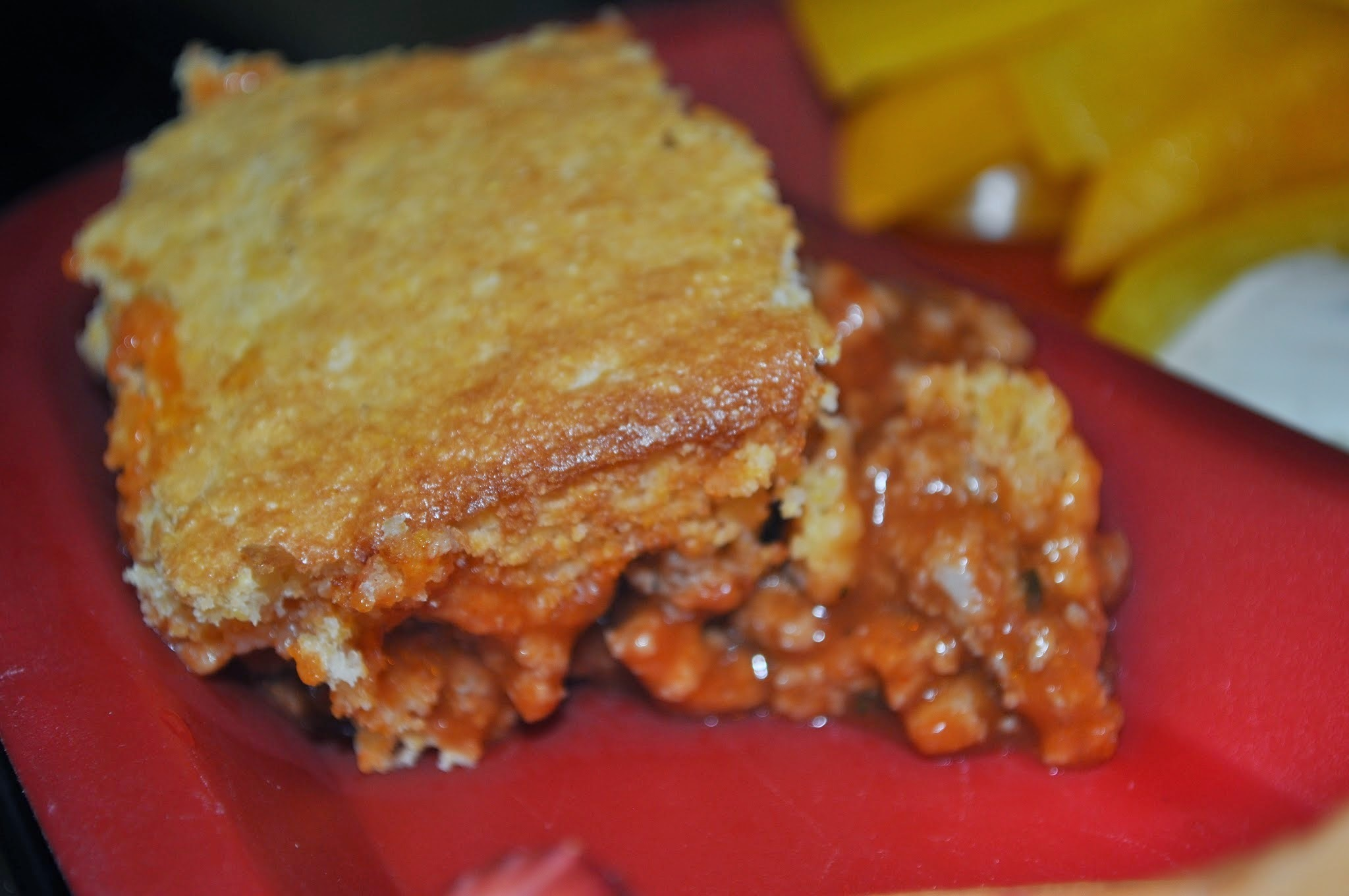 #1,228: Cornbread Hamburger Pie