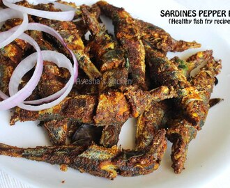 HEALTHY CRISPY FRIED FISH  - SARDINES PEPPER FRY