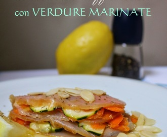 Carpaccio di Marlin Affumicato con Verdure Marinate