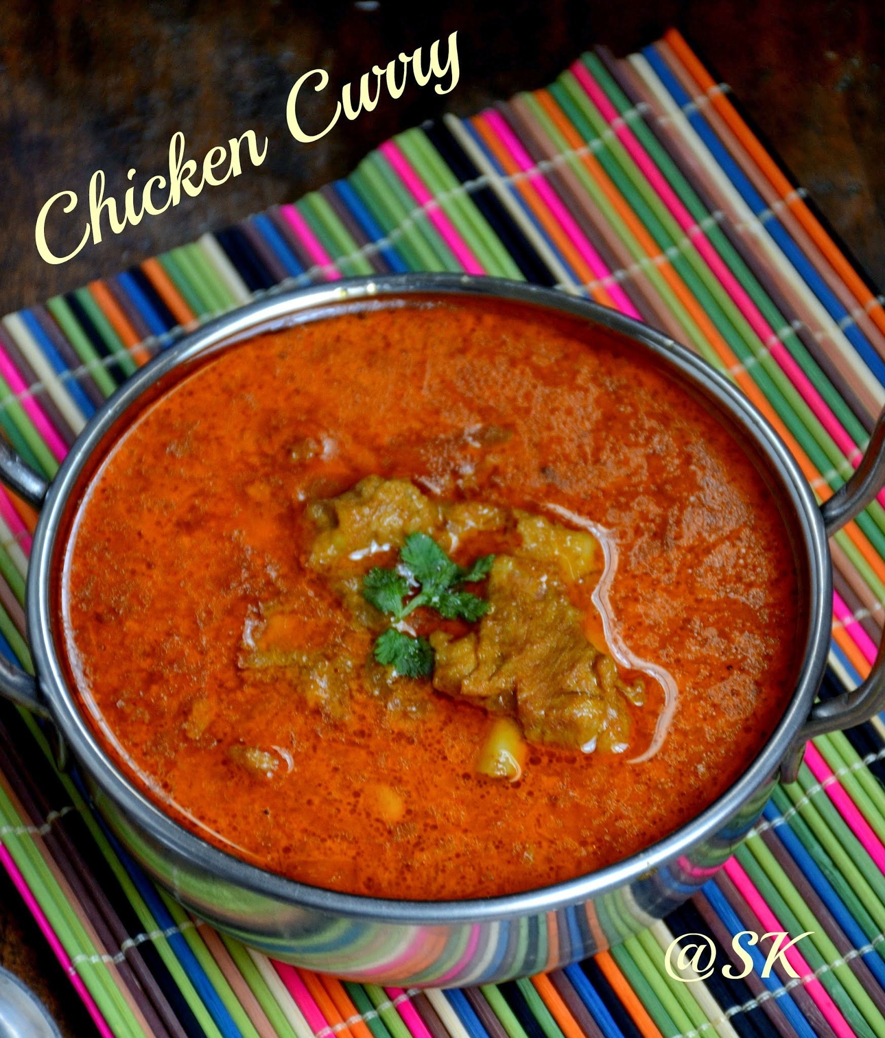 Chennai Special Chicken Curry - Quick  Pressure Cooker Chicken Curry - Batchelor's recipe