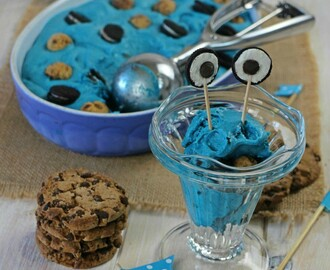 "Helado ""Cookie Monster"""