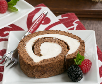 Chocolate Cake Roll #SundaySupper