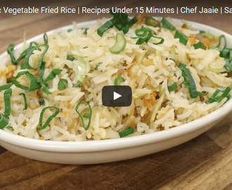 Burnt Garlic Vegetable Fried Rice Recipe Video