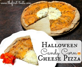 Halloween Candy Corn Cheese Pizza