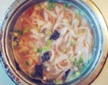 Sopa de miso con noodles de arroz // Miso soup with rice noodles