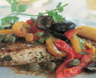 Broiled Swordfish with Anchovy and Caper Sauce Recipe