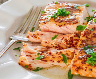 Maple Mustard Glazed Salmon Recipe