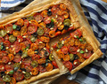 Roasted Tomato Tart with Balsamic Onions