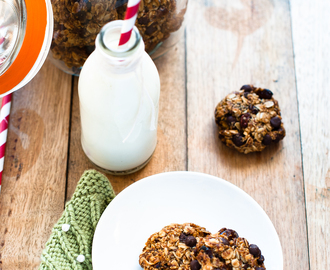 Oaty Banana and choc chip cookies