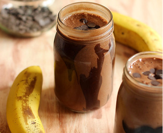 Chocolate Banana Milkshake|healthy and not so healthy!