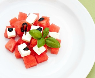 Insalata anguria e feta / Feta cheese and watermelon salad