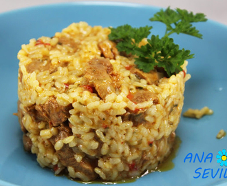 Arroz de solomillo adobado olla GM