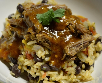 Mexican Pulled Beef and Rice with Black Beans