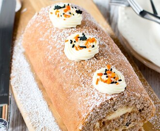 Halloween Fall Spice Swiss Roll