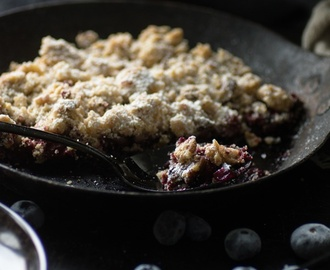 Unterwegs on Blueberry Hills und Blaubeer-Crumble mit Maple Syrup Cream