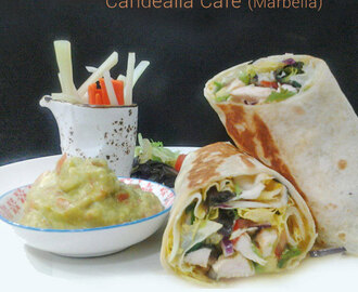 Wrap caliente de pollo thai