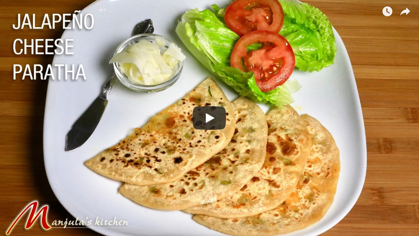 Jalapeno Cheese Paratha Recipe Video