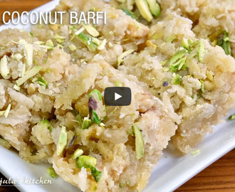 Apple Coconut Barfi Recipe Video