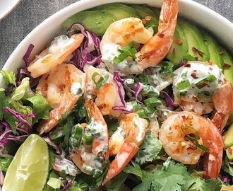 Grilled Shrimp Taco Bowl