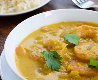 Indian Shrimp Coconut Curry