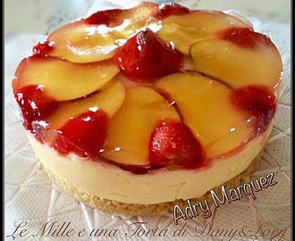 CHEESECAKE FRAGOLE E PESCHE