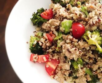 Quinoa Pilaf with Broccoli and Ground Turkey
