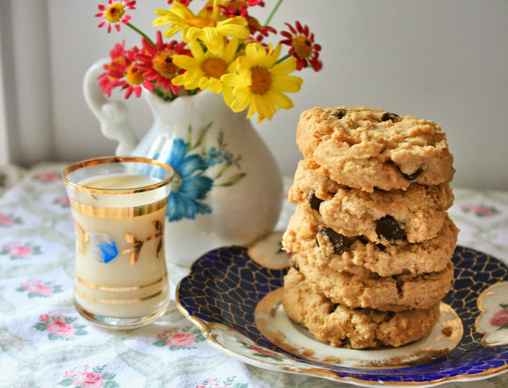 Chocolate Chip Peanut Butter Cookies (Vegan and Gluten-Free)