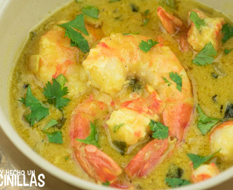 Receta de gambas al curry