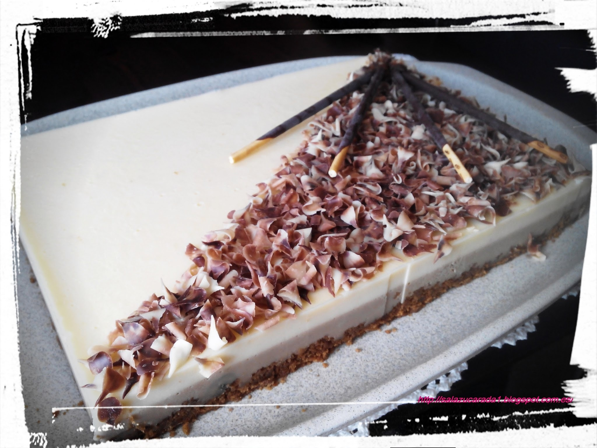 TARTA DE CAFE Y CHOCOLATE BLANCO