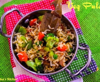 Veg Pulao | Vegetable Pulao without pressure cooker