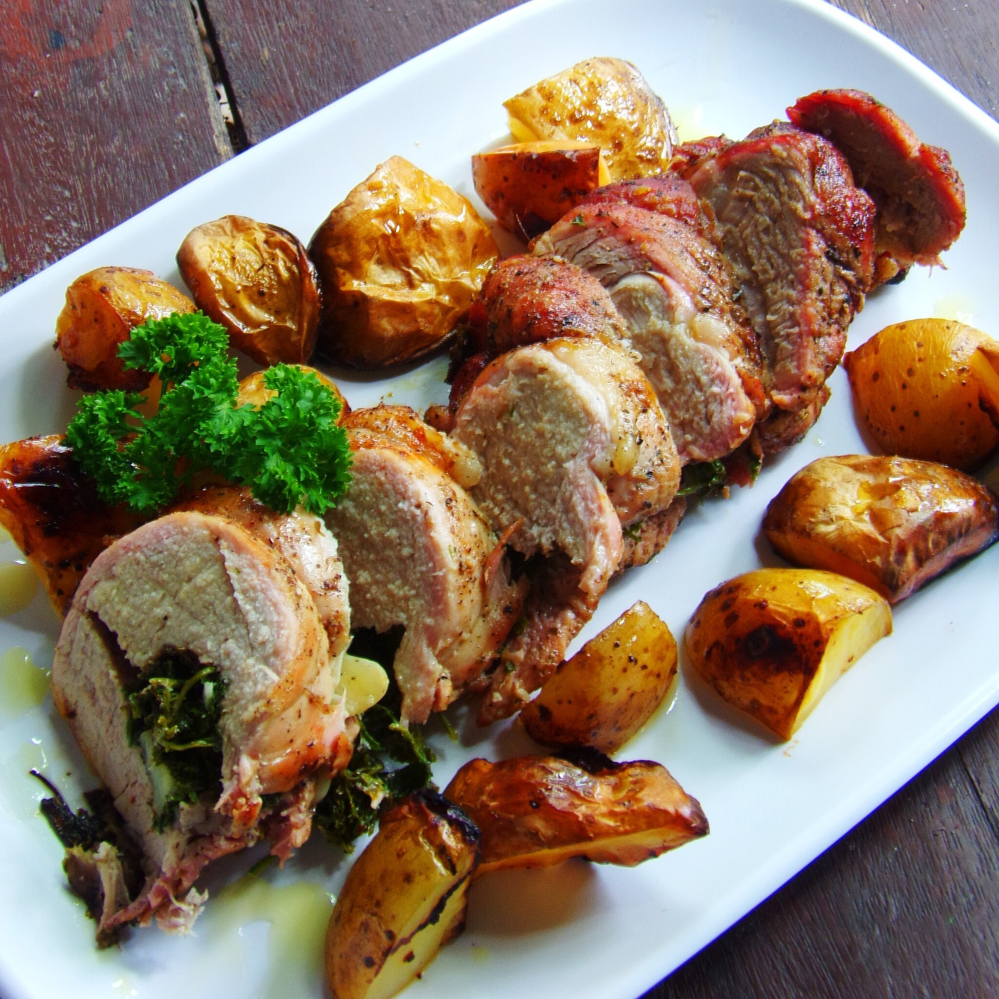 Herb Stuffed Roasted Pork Loin