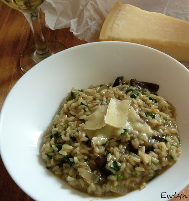Grzybowe risotto. Wild mushrooms risotto.