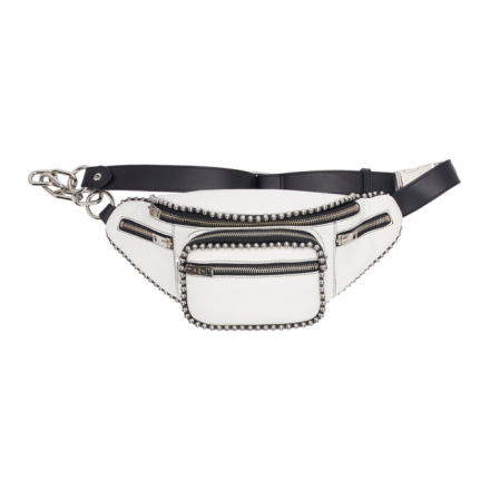 Alexander Wang White Attica Fanny Pack