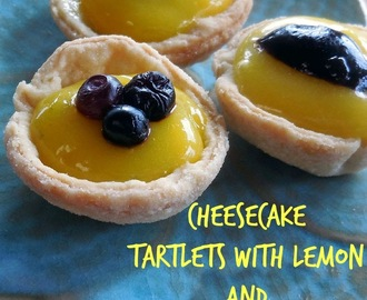 Baking for the Firemen - Cheesecake Tartlets with Lemon and Lime Curd