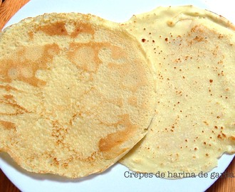 Crepes de harina de garbanzo
