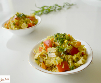 Chicken and Vegetable Brown Rice 'Rainbow' Pulao