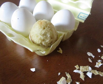 Egg Shell Cakes: Vanilla Cake Baked in Egg Shells & Cake to Use Up Remaining Eggs