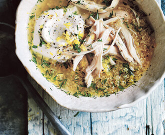 herby lemon and quinoa chicken soup