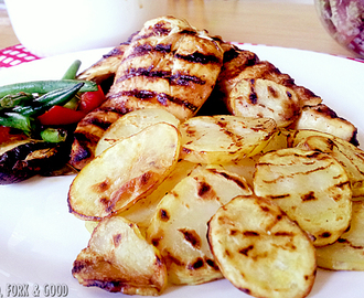 Crispy Grilled Pepper Potato Slices.