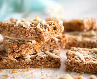 3 Ingredient Slow Cooker Dulce de Leche Rice Krispie Bars